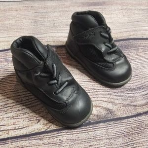 Timberland kids 3 black leather boots